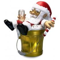 公仔Q版歡樂桶  氛圍燈無線藍芽音箱 聖誕老公公 - (金黃 Q 桶)