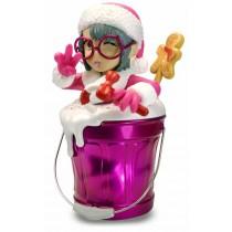 公仔Q版歡樂桶  氛圍燈無線藍芽音箱 粉紅美少女 - (粉紅 Q 桶)