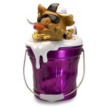 公仔Q版歡樂桶  氛圍燈無線藍芽音箱 帥氣小豬仔 - (紫色 Q 桶)