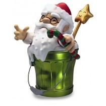 公仔Q版歡樂桶  氛圍燈無線藍芽音箱 聖誕老公公 - (綠色 Q 桶)