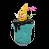 公仔Q版歡樂桶  氛圍燈無線藍芽音箱 黃色開心逗逗蟲 - (藍綠 Q 桶)